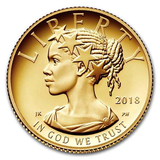 2018-W 1/10 oz Proof American Liberty Gold (w/Box and COA)