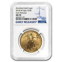 2018-W 1 oz Burnished Gold Eagle MS-70 NGC (ER)