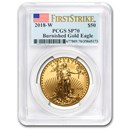 2018-W 1 oz Burnished Gold Eagle SP-70 PCGS (FirstStrike®)