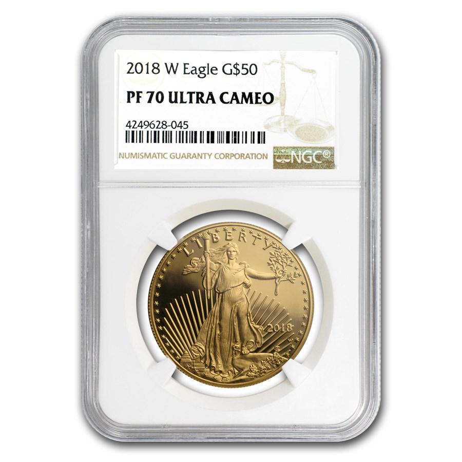 2018-W 1 oz Proof Gold American Eagle PF-70 NGC