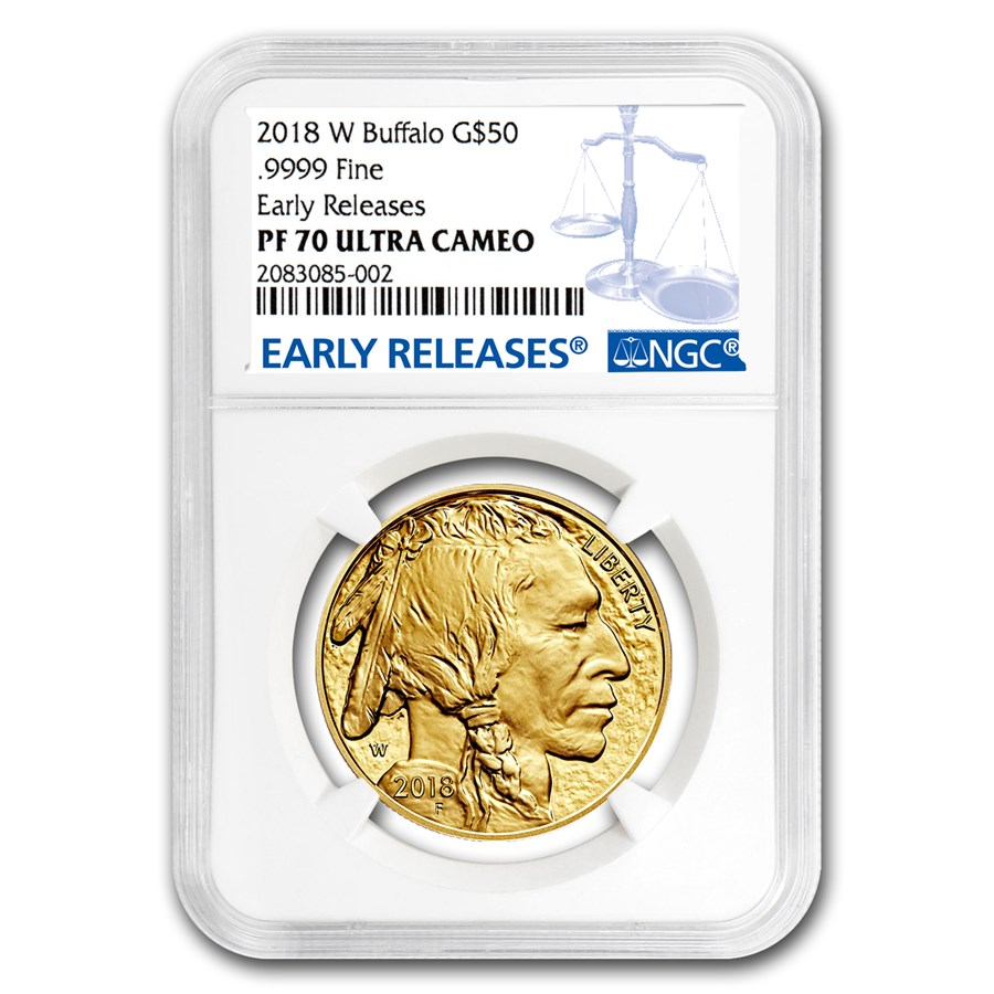 2018-W 1 oz Proof Gold Buffalo PF-70 NGC (Early Releases)