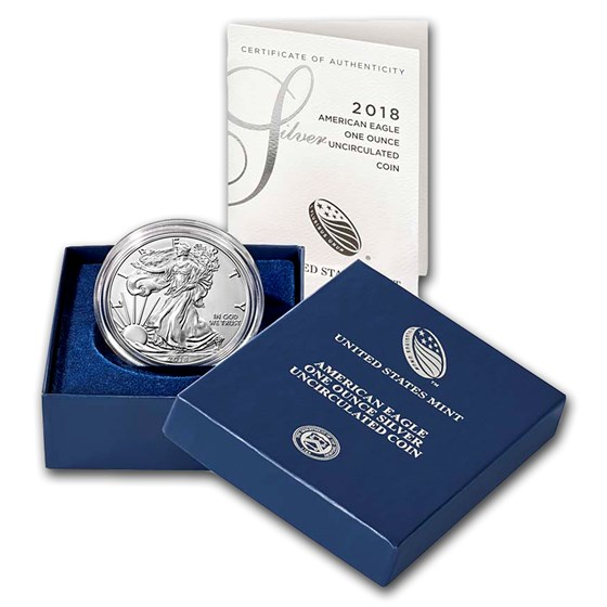 2018-W Burnished American Silver Eagle (w/Box & COA)