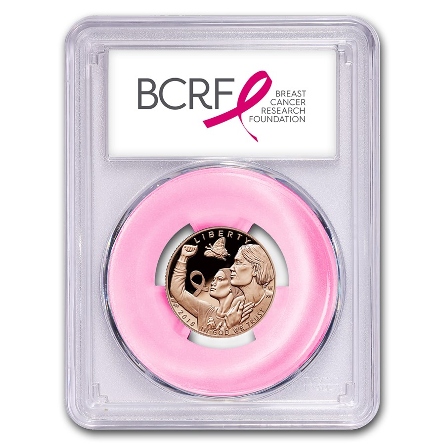 2018-W Gold $5 Breast Cancer Awareness PR-70 PCGS (FirstStrike®)