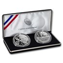 2018 World War I Centennial Silver Dollar Marine Corps Medal Set