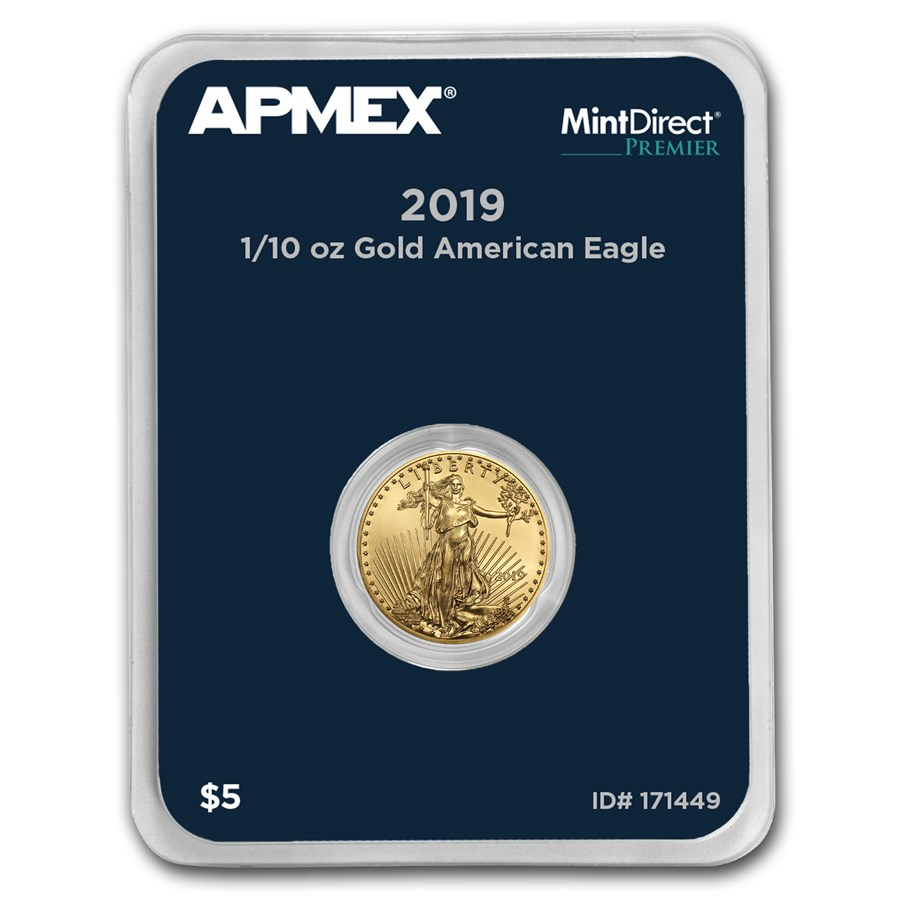 2019 1/10 oz Gold American Eagle (MintDirect® Premier Single)