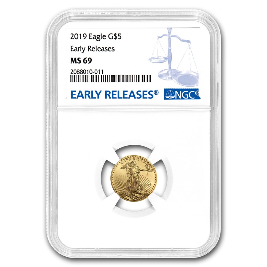 2019 1/10 oz Gold American Eagle MS-69 NGC (Early Releases)