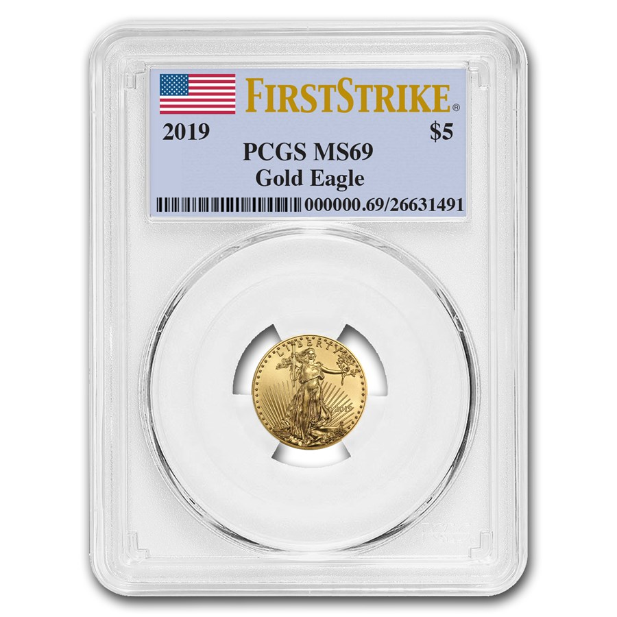 2019 1/10 oz Gold American Eagle MS-69 PCGS (FirstStrike®)