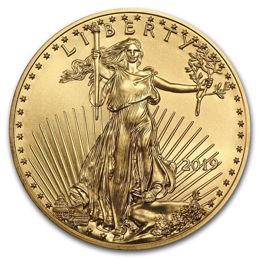 2019 1/2 oz Gold American Eagle BU