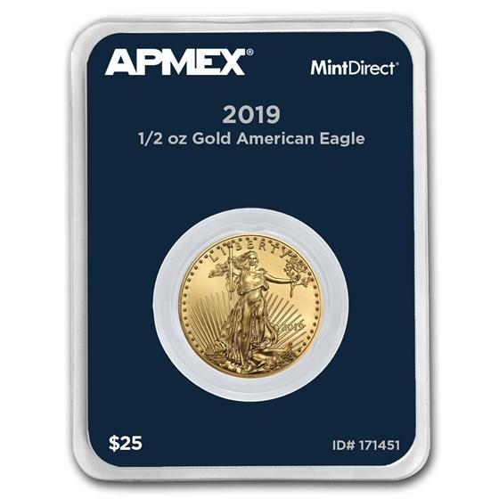 2019 1/2 oz Gold American Eagle (MintDirect® Single)