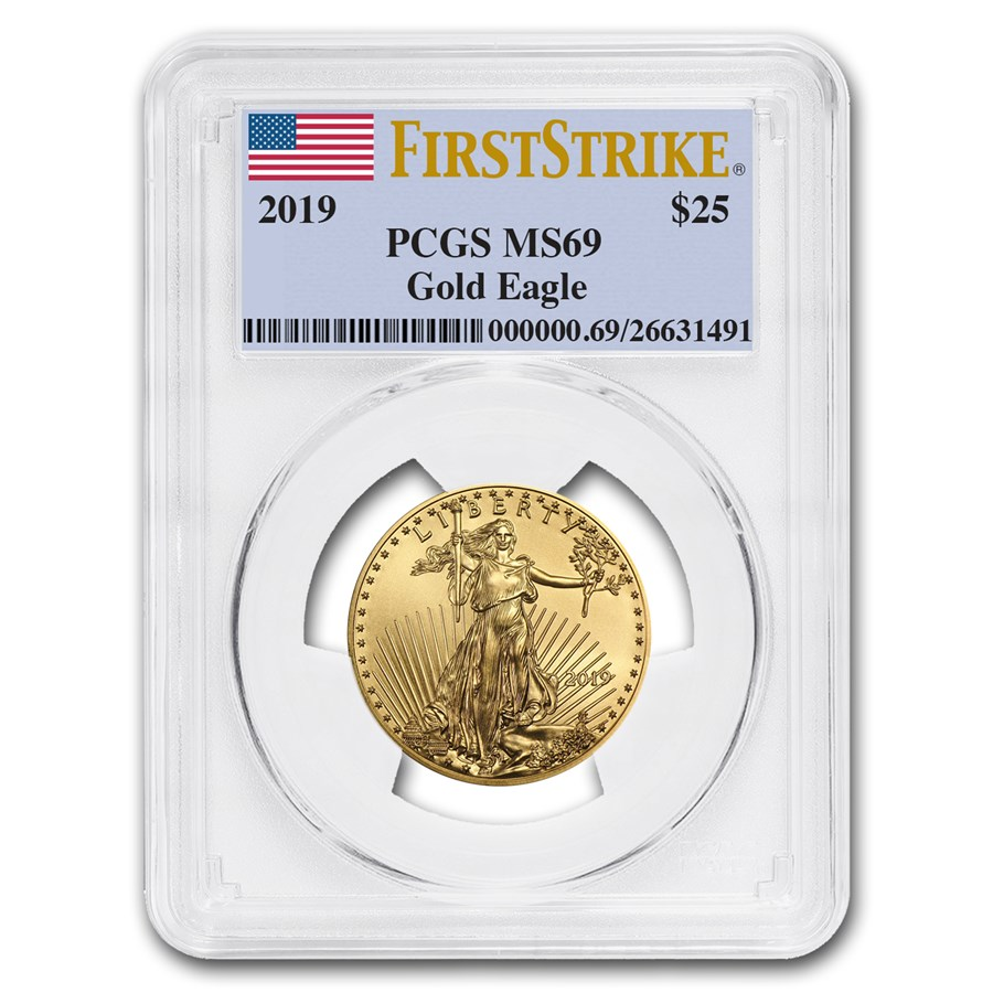 2019 1/2 oz Gold American Eagle MS-69 PCGS (FirstStrike®)