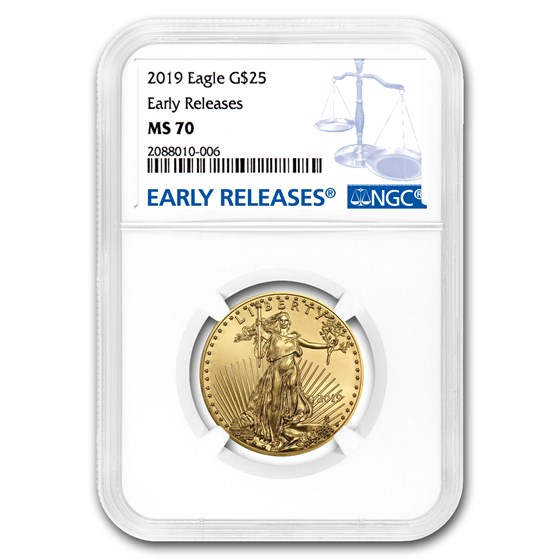 2019 1/2 oz Gold American Eagle MS-70 NGC (Early Releases)