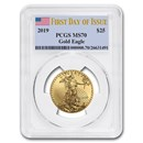 2019 1/2 oz Gold American Eagle MS-70 PCGS (First Day of Issue)