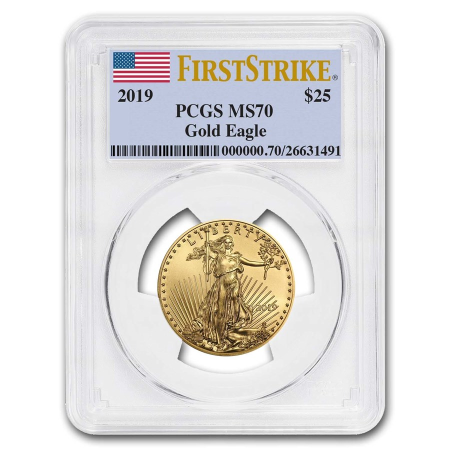 2019 1/2 oz Gold American Eagle MS-70 PCGS (FirstStrike®)