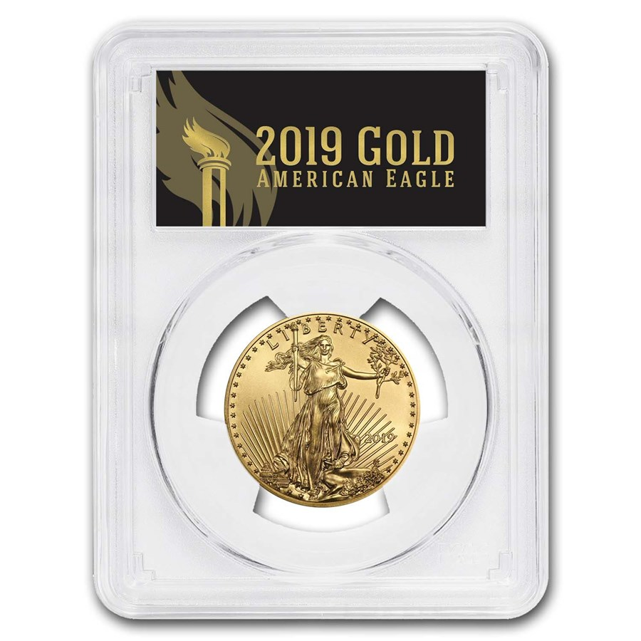 2019 1/2 oz Gold Eagle MS-70 PCGS (First Day, Black Label)