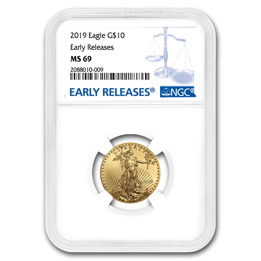 2019 1/4 oz Gold American Eagle MS-69 NGC (Early Releases)