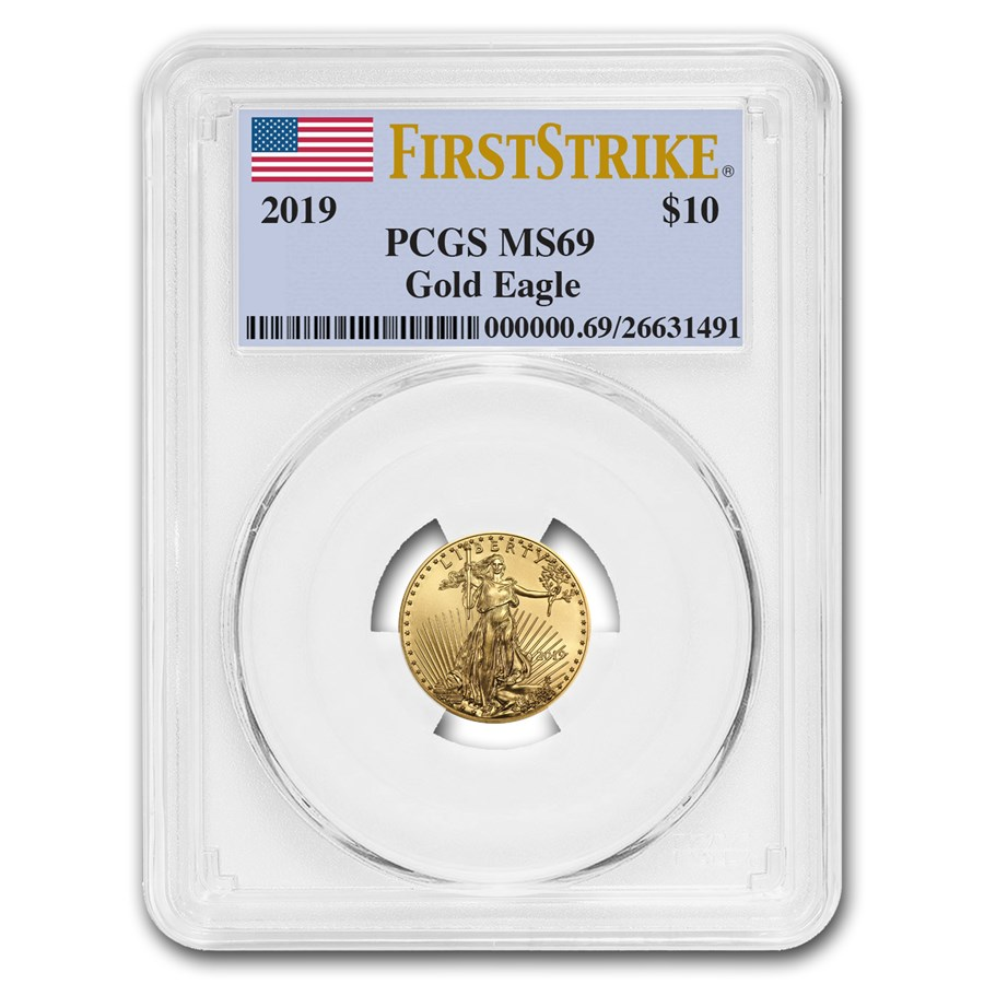 2019 1/4 oz Gold American Eagle MS-69 PCGS (FirstStrike®)