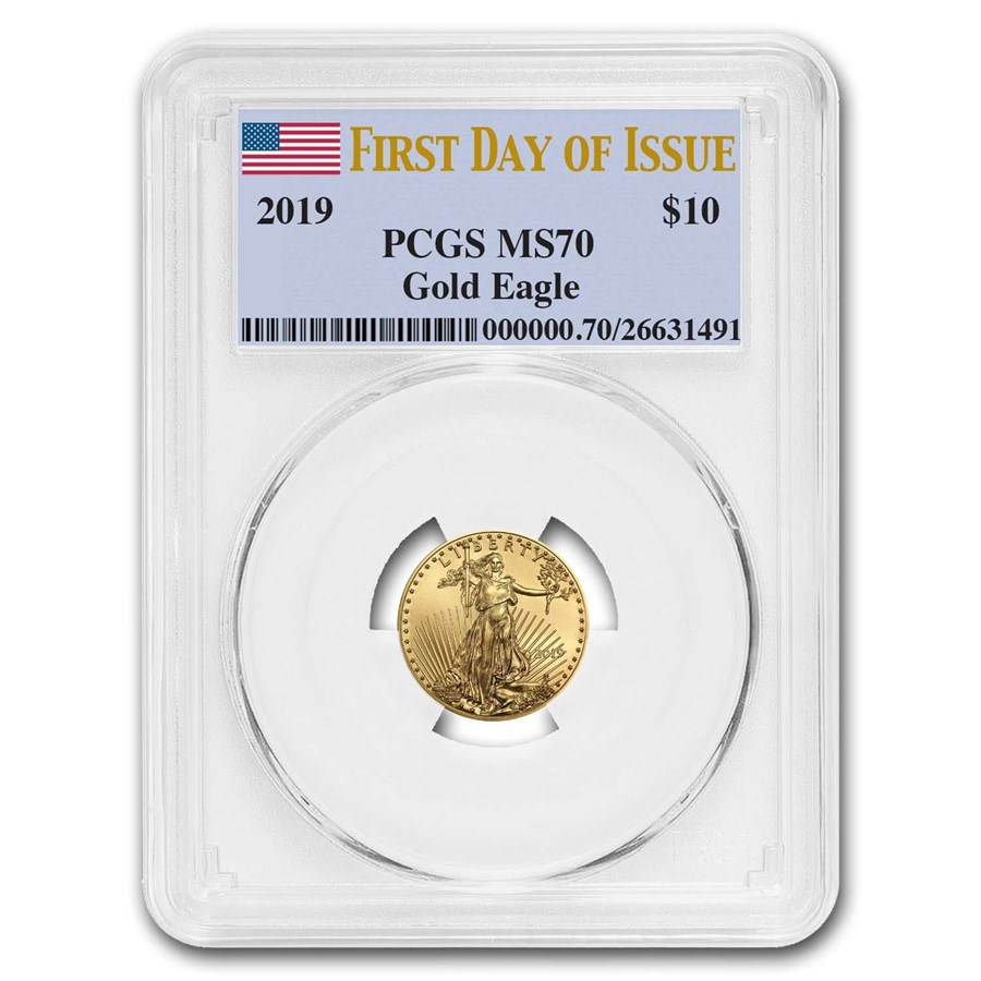 2019 1/4 oz Gold American Eagle MS-70 PCGS (First Day of Issue)