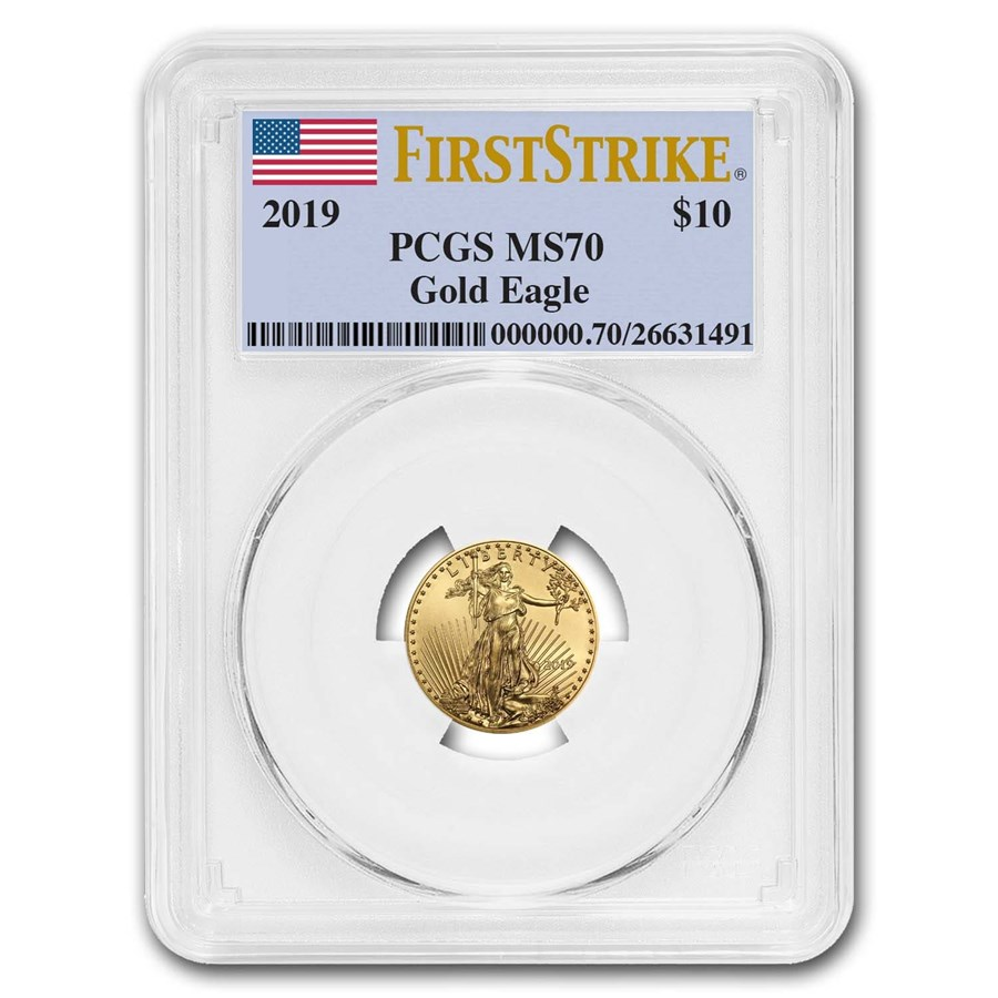 2019 1/4 oz Gold American Eagle MS-70 PCGS (FirstStrike®)