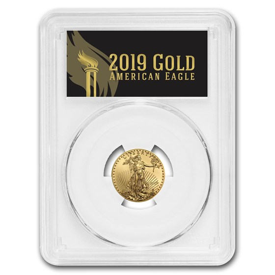2019 1/4 oz Gold Eagle MS-70 PCGS (FirstStrike®, Black Label)