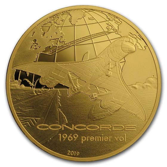 2019 1/4 oz Proof Gold €50 Aviation & History (Concorde)