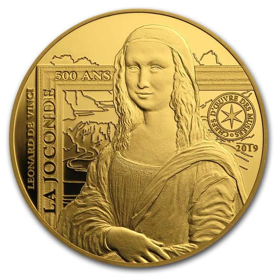 2019 1/4 oz Proof Gold €50 Masterpieces of Museums (Mona Lisa)