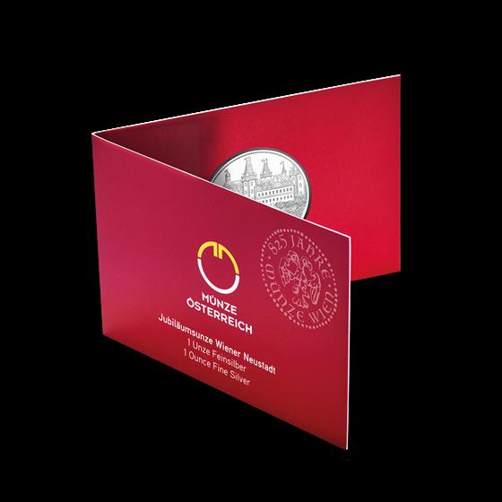 2019 1 oz Ag 825th Anniv Wiener Neustadt (In Card)