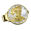2019 1 oz Gilded Silver American Eagle Money Clip