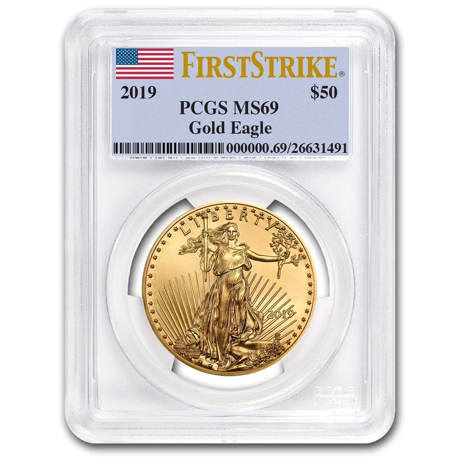 2019 1 oz Gold American Eagle MS-69 PCGS (FirstStrike®)