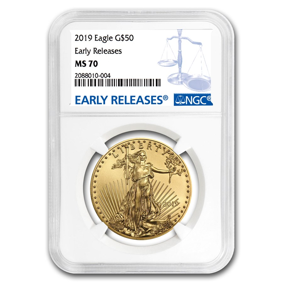 2019 1 oz Gold American Eagle MS-70 NGC (Early Releases)