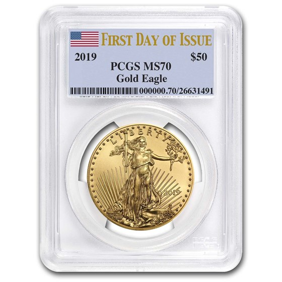 2019 1 oz Gold American Eagle MS-70 PCGS (First Day of Issue)