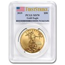 2019 1 oz Gold American Eagle MS-70 PCGS (FirstStrike®)
