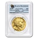 2019 1 oz Gold Buffalo MS-70 PCGS (FS, Black Diamond)