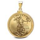 2019 1 oz Gold Eagle Pendant (Diamond-ScrewTop Bezel)