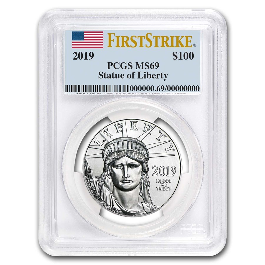 2019 1 oz Platinum American Eagle MS-69 PCGS (FirstStrike®)