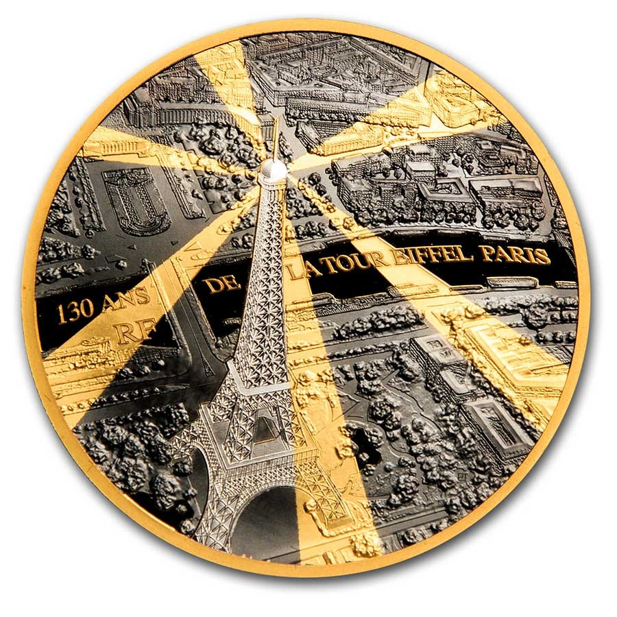 2019 1 oz Prf Gold €200 Treasures of Paris (Eiffel Tower)