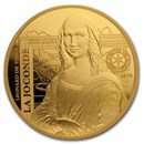 2019 1 oz Proof Gold €200 Masterpieces of Museums (Mona Lisa)
