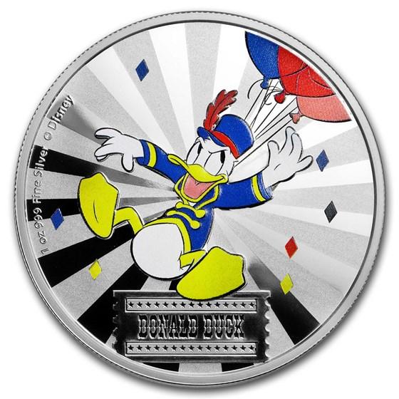 2019 1 oz Silver $2 Disney Carnival Collection: Donald Duck