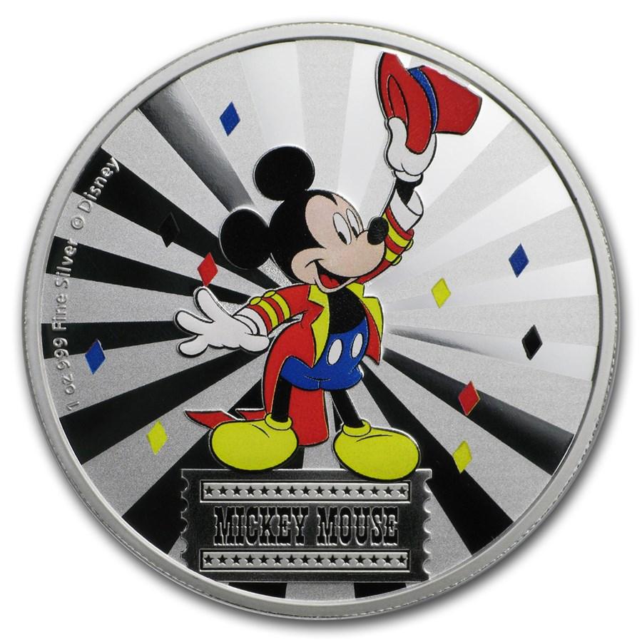 2019 1 oz Silver $2 Disney Carnival Collection: Mickey Mouse