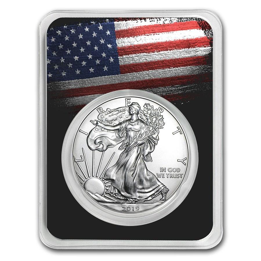 2019 1 oz Silver American Eagle - American Flag
