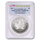 2019 1 oz Silver Maple Leaf Modified Proof PR-70 PCGS (First Day)