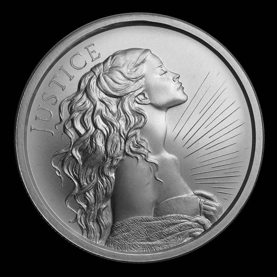 2019 1 oz Silver Shield Round - Justice