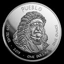 2019 1 oz Silver State Dollars Colorado Bighorn
