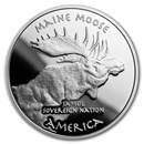 2019 1 oz Silver State Dollars Maine Moose Proof