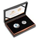 2019 2-Coin Domed Apollo 11 Moon Landing 50th Anniv US/RAM Set