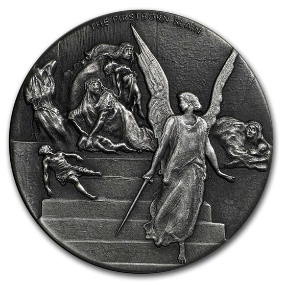 2019 2 oz Silver Coin - Biblical Series (Firstborn Slain)