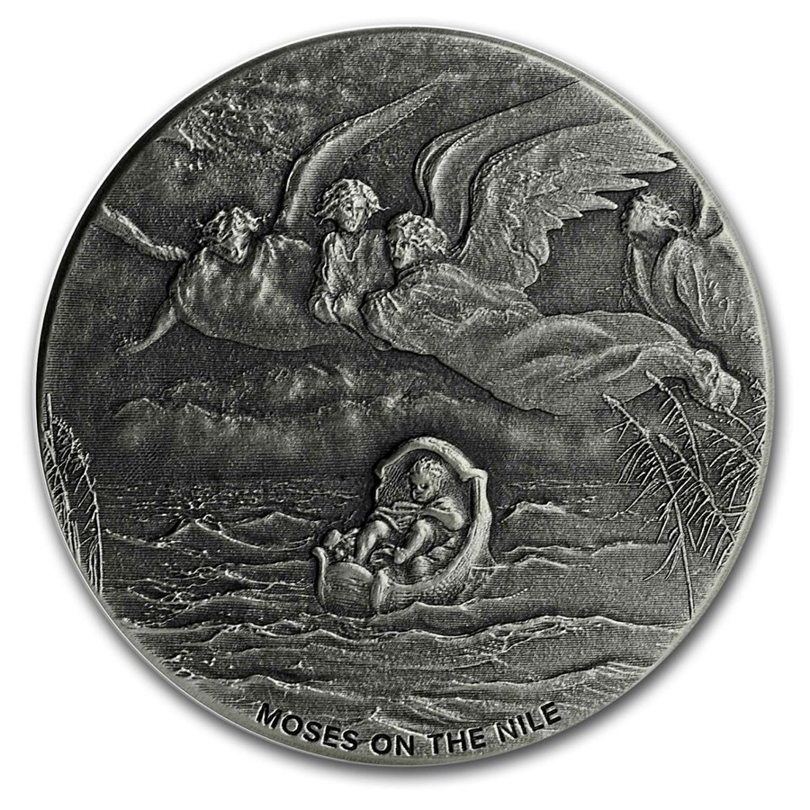 2019 2 oz Silver Coin - Biblical Series (Moses on the Nile)