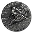 2019 2 oz Silver Coin - Biblical Series (Samson Slays the Lion)