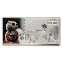 2019 5 g Silver $1 Note Star Wars The Force Awakens: BB-8