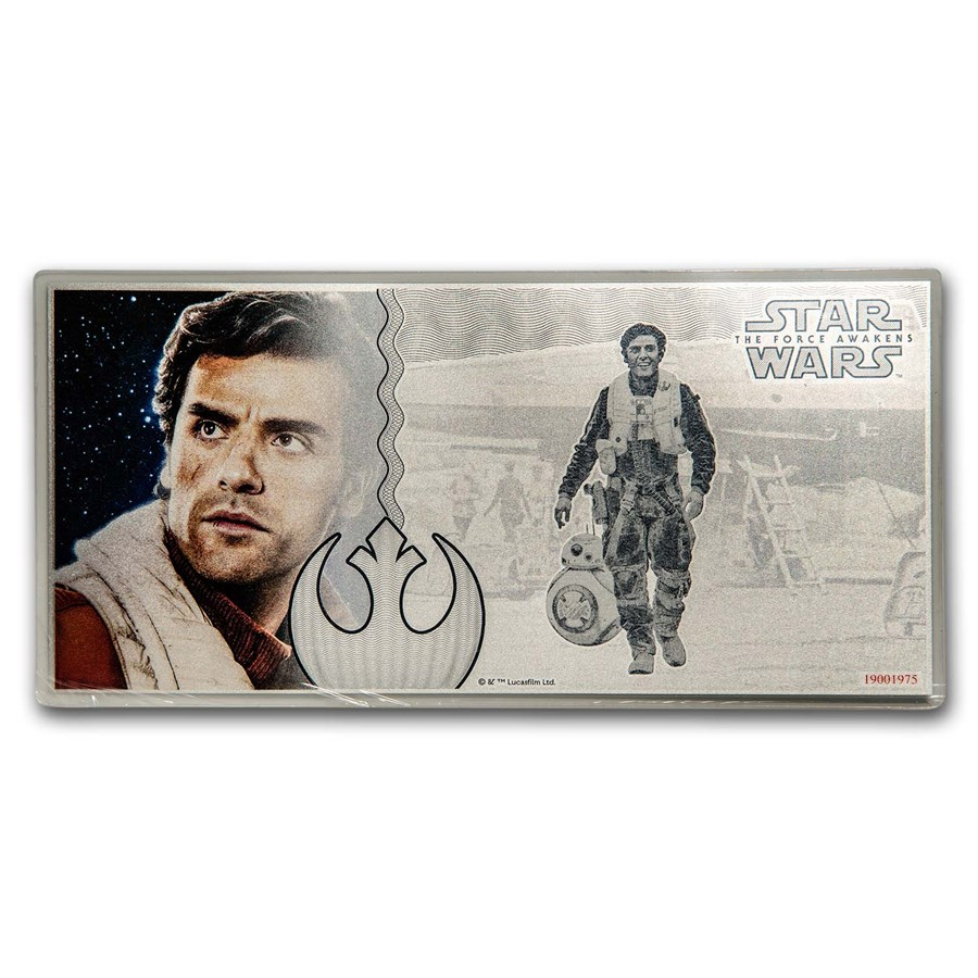 2019 5 g Silver $1 Note Star Wars The Force Awakens: Poe Dameron