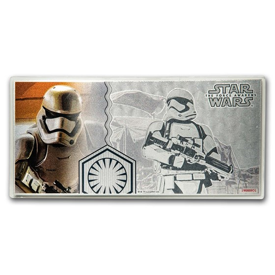 2019 5 g Silver $1 Note Star Wars The Force Awakens: Stormtrooper